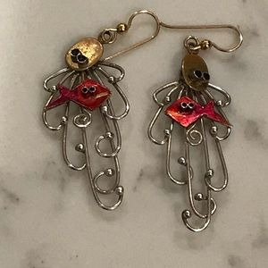 Jewelry - Fish eye 👁 silver earrings